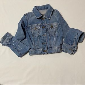 Abercrombie and Fitch Vintage Cropped Jean Jacket